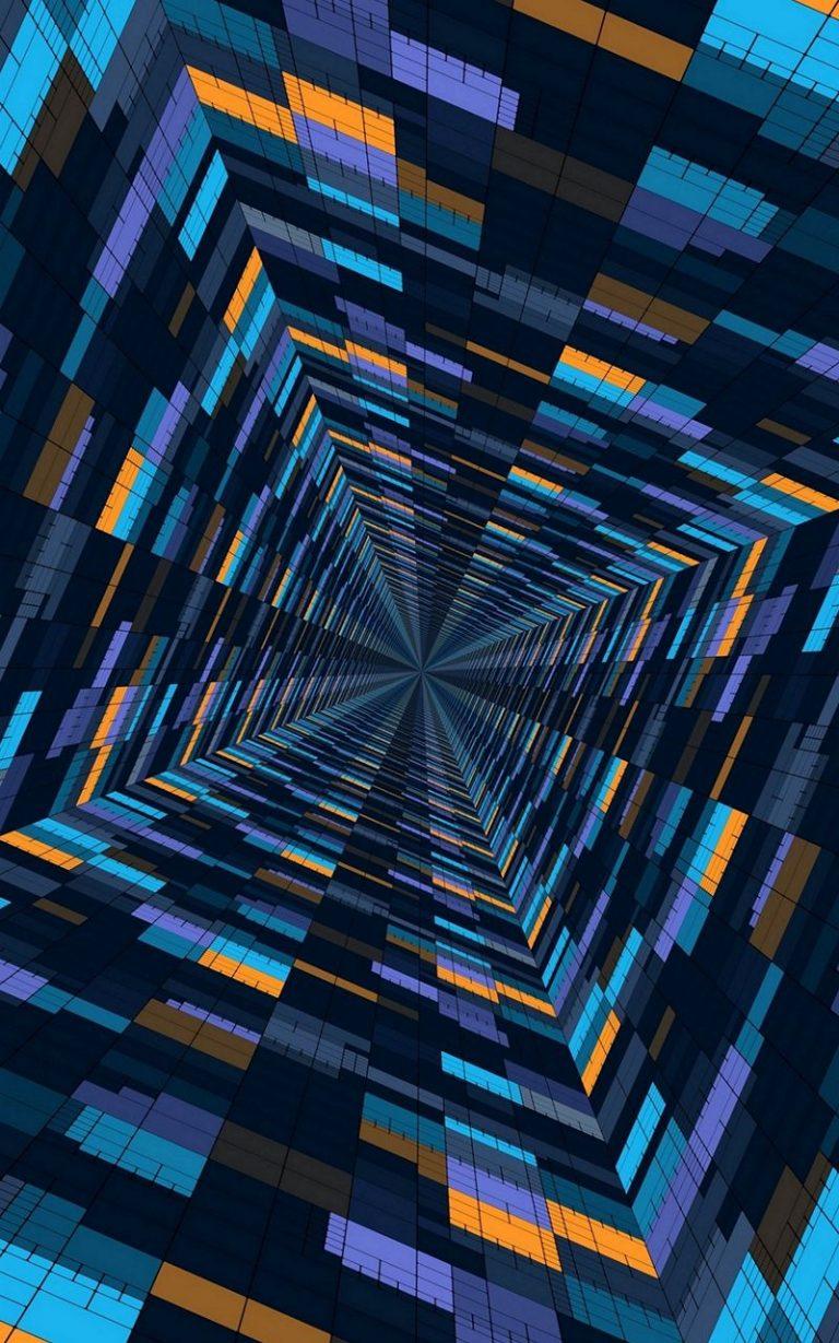 Abstract 3D Blocks 800x1280 768x1229