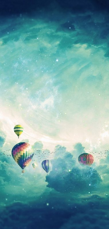 Air Balloons Surrealism Clouds 1080x2270 380x799