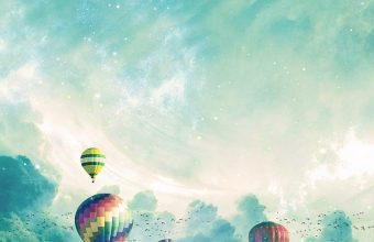 Air Balloons Surrealism Clouds 800x1280 340x220