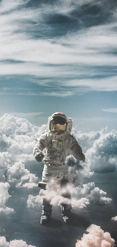 Astronaut Suit Space Clouds 1080x2270 380x799