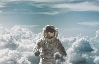 Astronaut Suit Space Clouds 800x1280 340x220