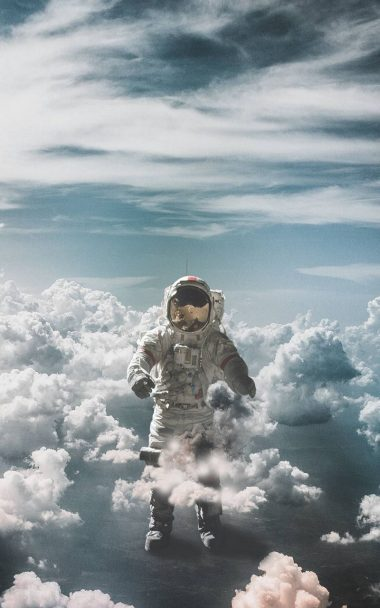 Astronaut Suit Space Clouds 800x1280 380x608