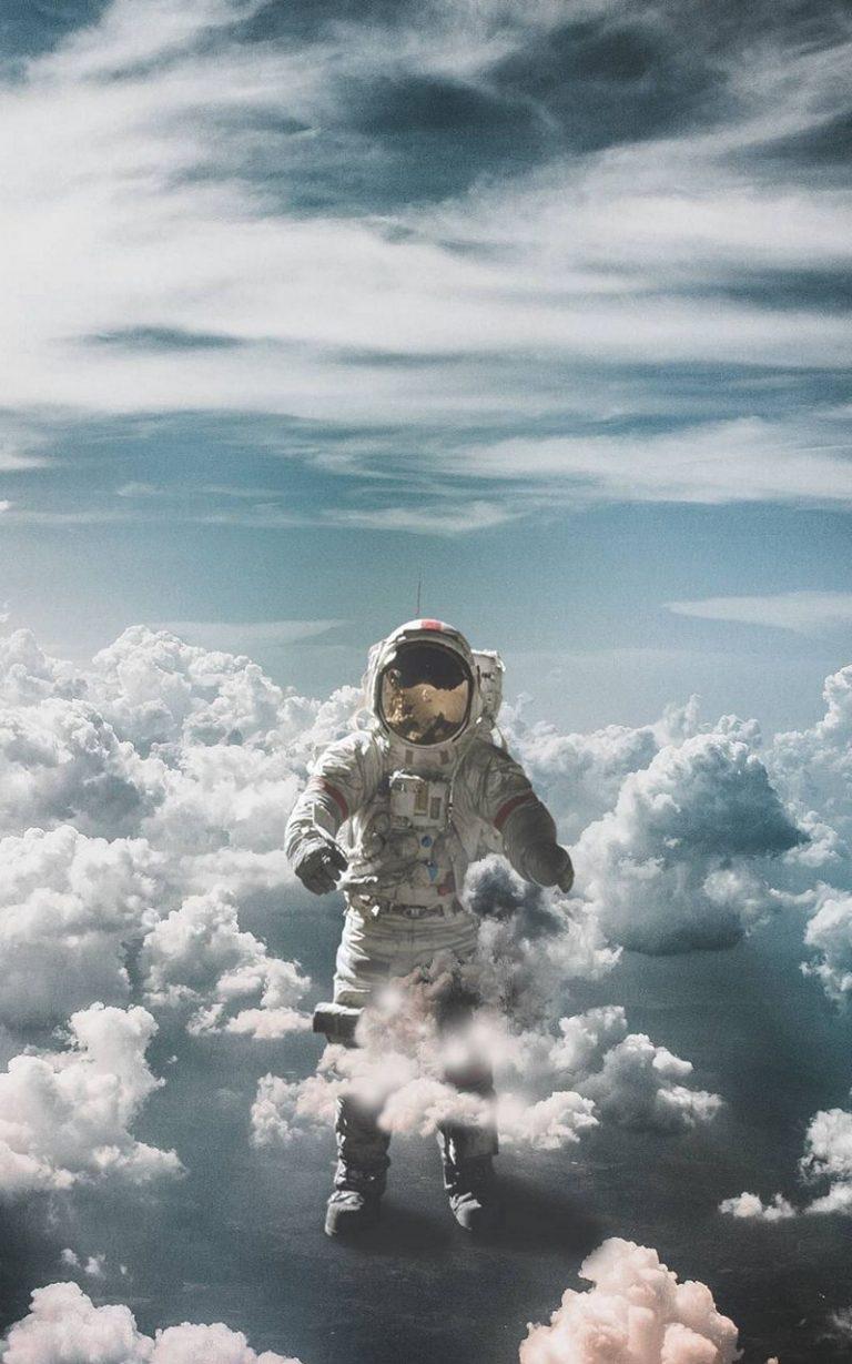 Astronaut Suit Space Clouds 800x1280 768x1229