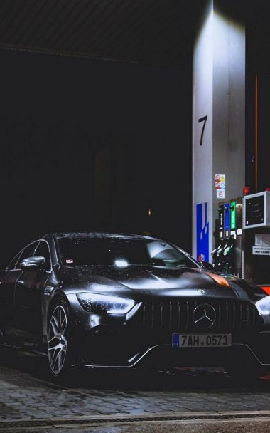 Benz Car Refueling Rain 800x1280 380x608