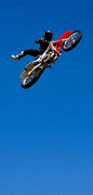 Bike Jump Blue Sky 1080x2270 380x799