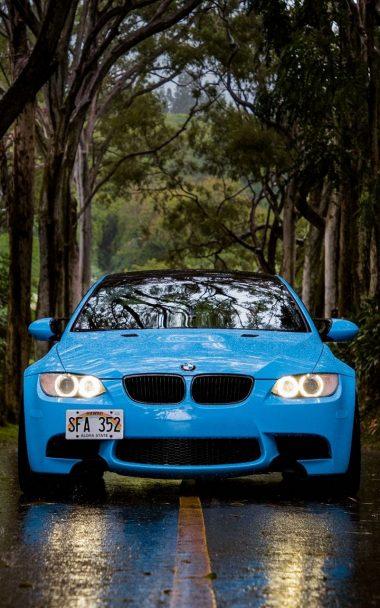 Blue BMW 5 Car 800x1280 380x608