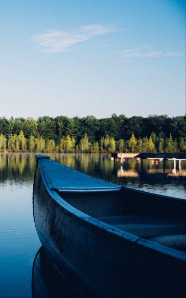 Boat Canoe Lake Trees 800x1280 380x608