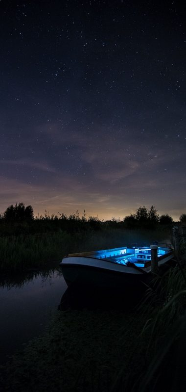 Boat Starry Sky Night 1080x2270 380x799