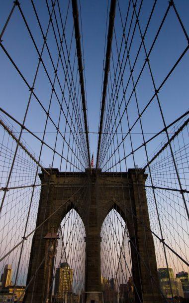 Brooklyn Bridge New York Evening 800x1280 380x608
