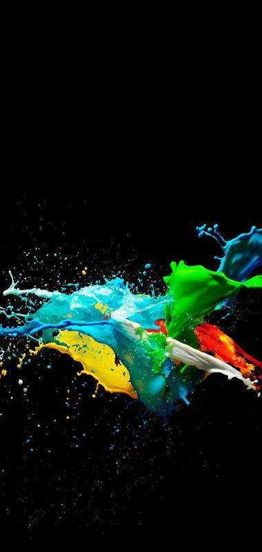 Colorful Painted Black Background 1080x2270 380x799
