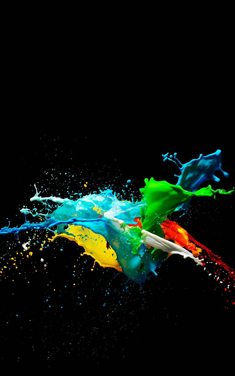 Colorful Painted Black Background 800x1280