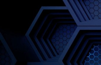 Dark Blue Boxes 3D Abstract 1080x2270 340x220