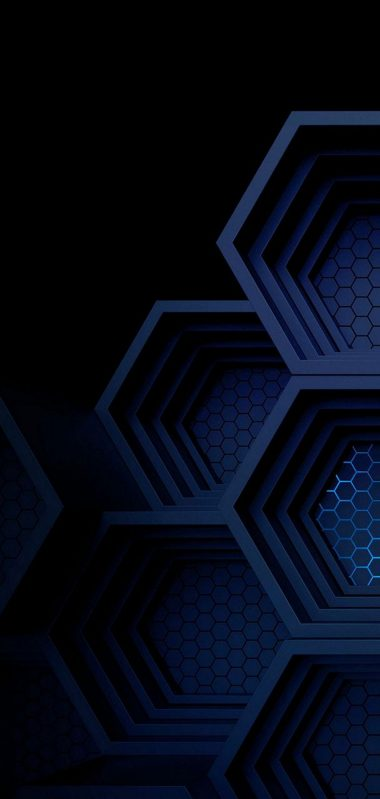 Dark Blue Boxes 3D Abstract 1080x2270 380x799