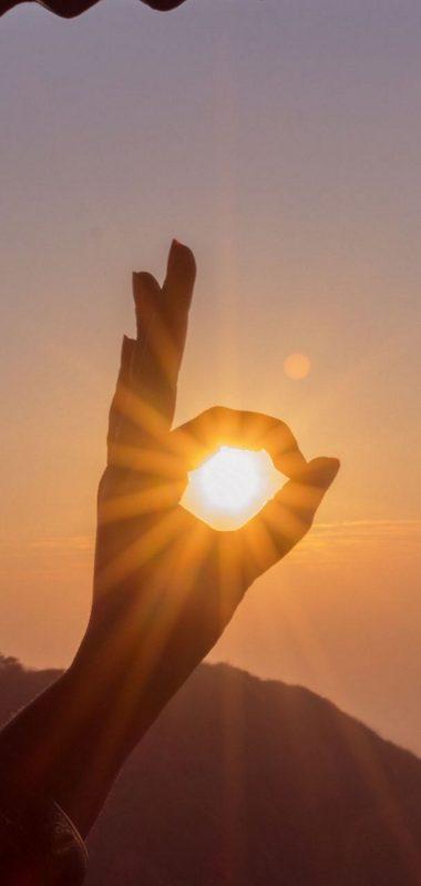 Hand Sun Rays Nature 1080x2270 380x799