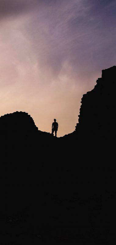 Hills Silhouette Solitude 1080x2270 380x799