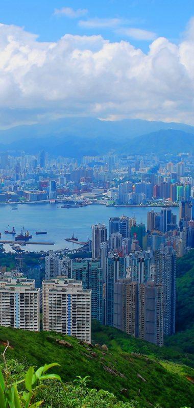 Hong Kong Building Top View Sky 1080x2270 380x799