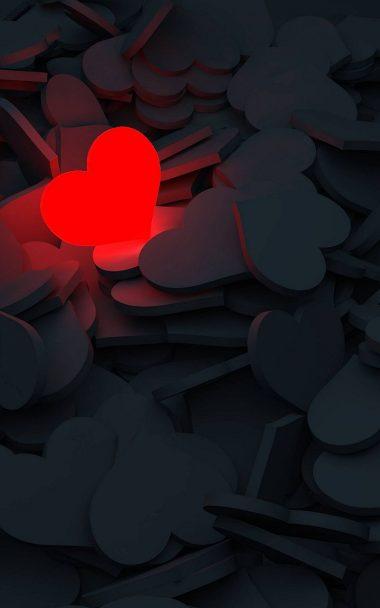 Lightning Love Red Heart 800x1280 380x608