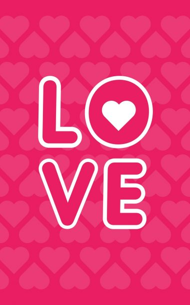 Love Inscription Hearts 800x1280 380x608