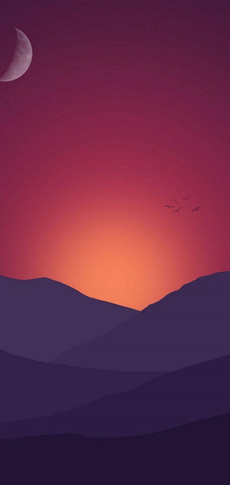 Minimal Nature Mountain 1080x2270 768x1614