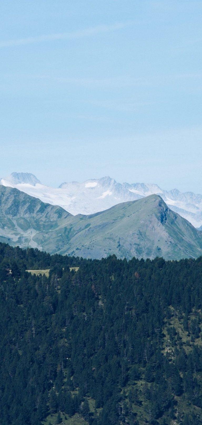 Mountain Range Mountains Trees Distance 1080x2270 768x1614