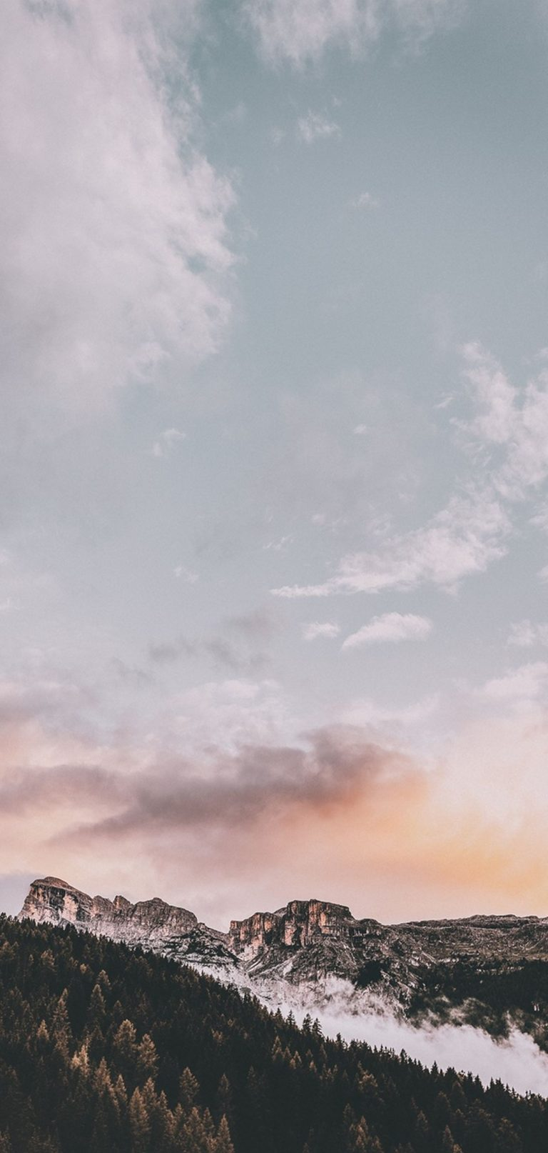 Mountains Peak Sky 1080x2270 768x1614