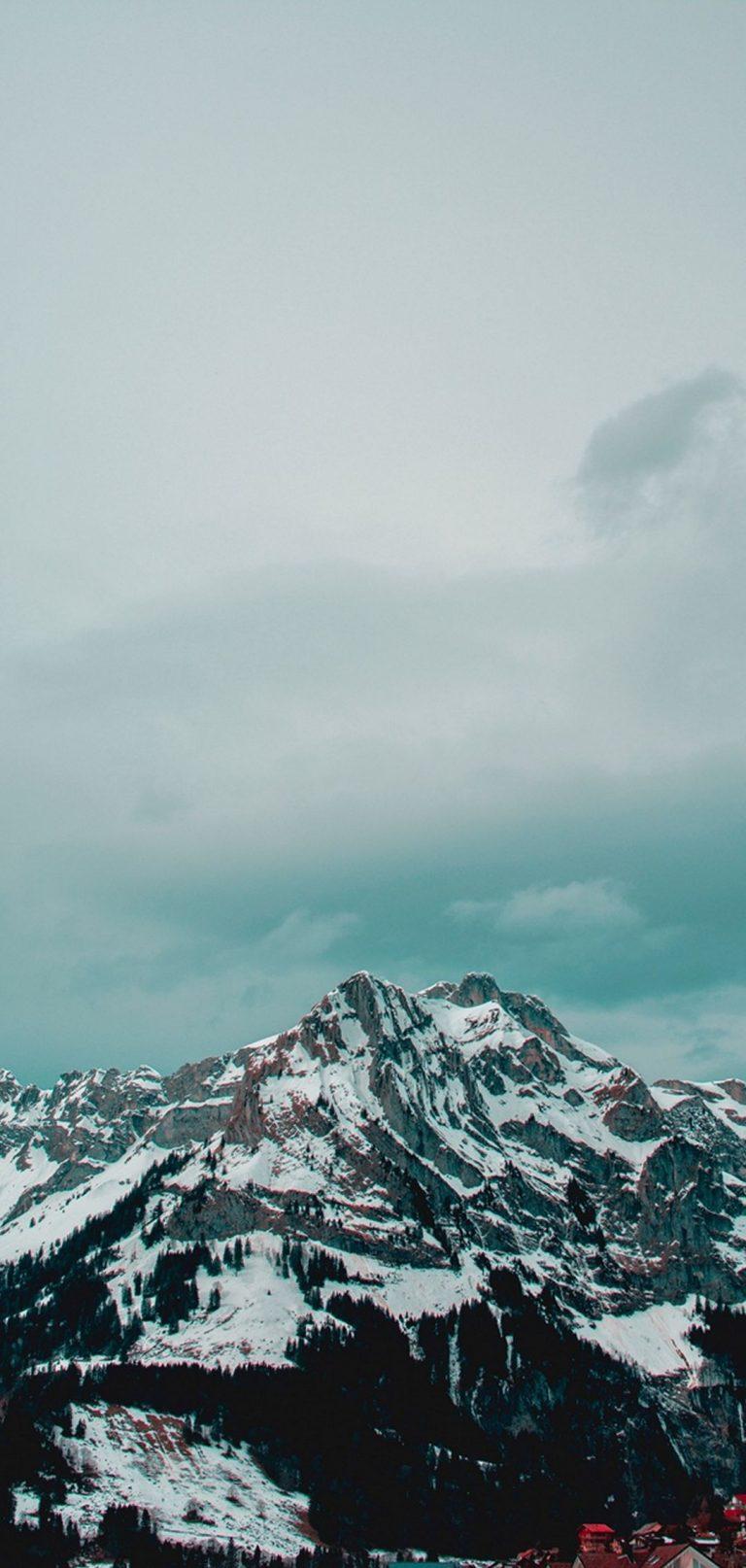 Mountains Peak Snow 1080x2270 768x1614