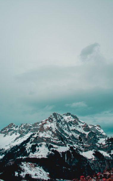 Mountains Peak Snow 800x1280 380x608