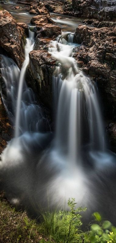 Nature Waterfall Breakage 1080x2270 380x799