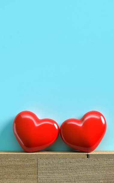Red Hearts Love 800x1280 380x608