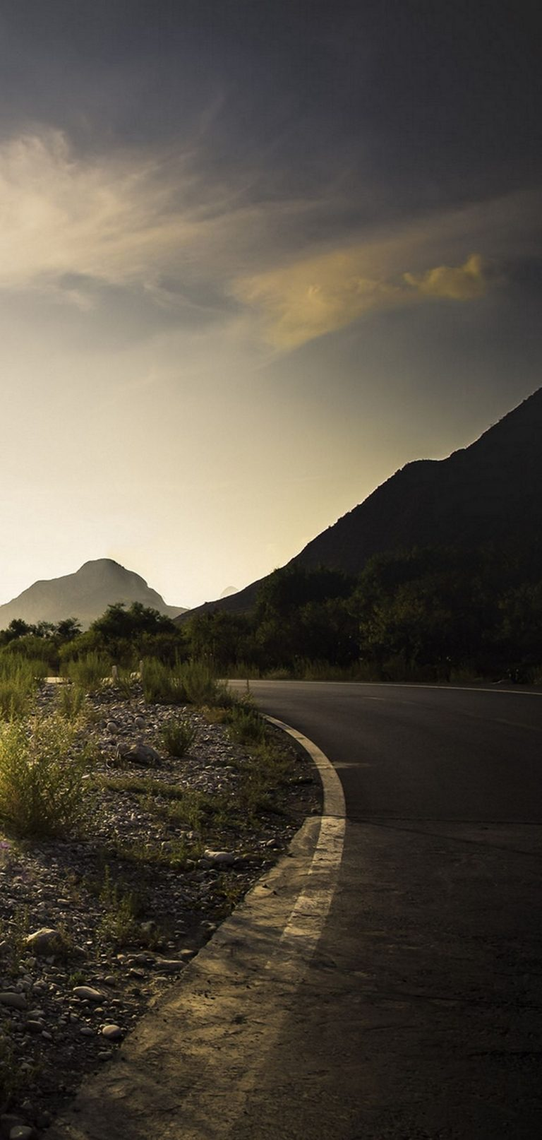 Road Grass Counting Dawn Mountains 1080x2270 768x1614