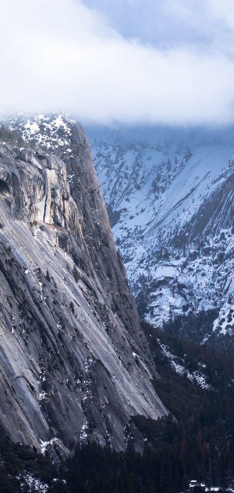 Rocks Mountains Top Snow 1080x2270 768x1614