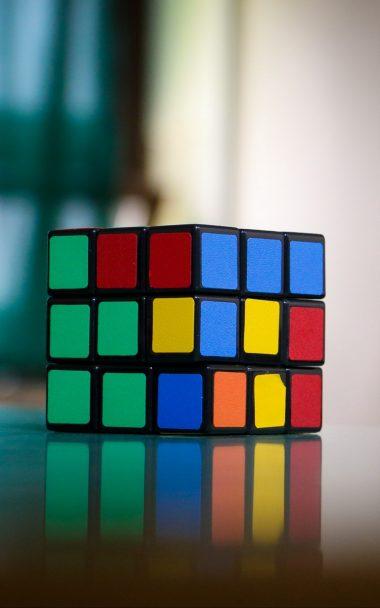 Rubiks Cube Puzzle Multi Colored 800x1280 380x608