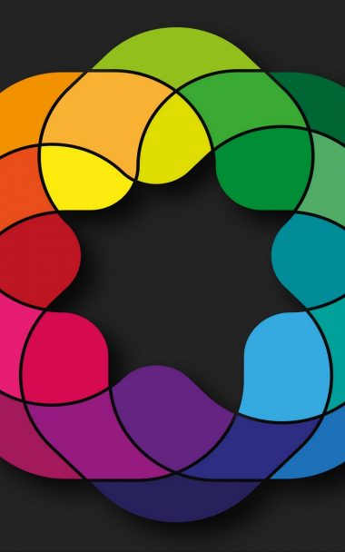 Shapes Colorful Black Background 800x1280 380x608