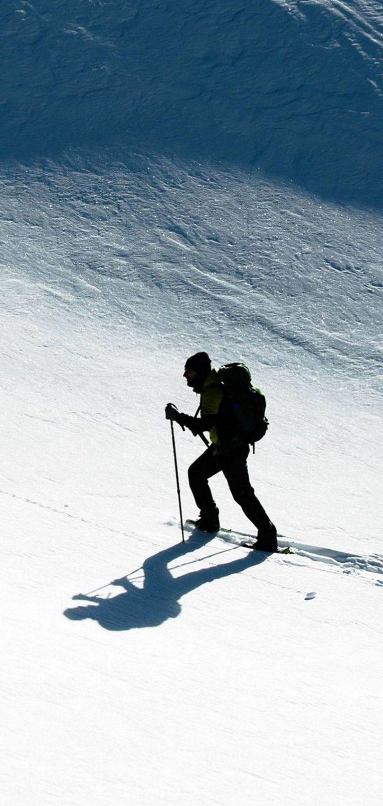 Skier Snow Climb Sport 1080x2270 768x1614