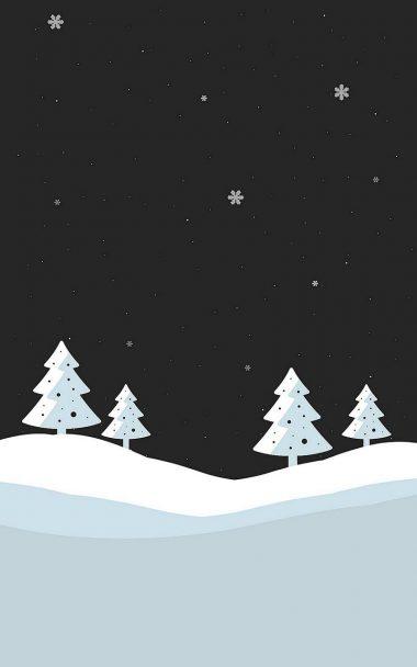 Snowfall Minimal 800x1280 380x608