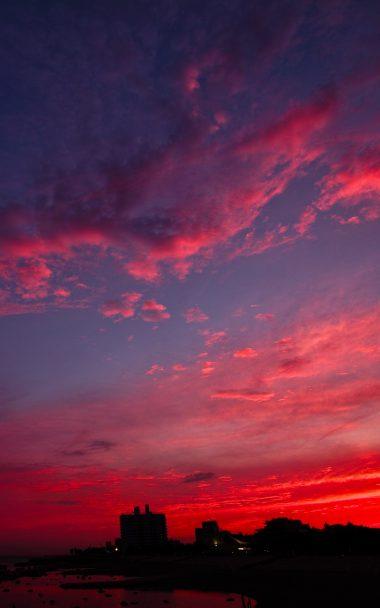 Sunset Night City Sky 800x1280 380x608