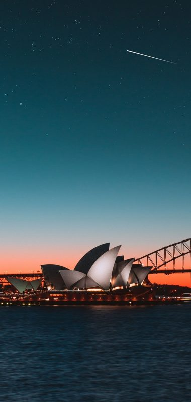 Sydney Opera House Night City Harbor 1080x2270 380x799