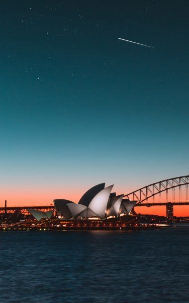 Sydney Opera House Night City Harbor 800x1280 380x608