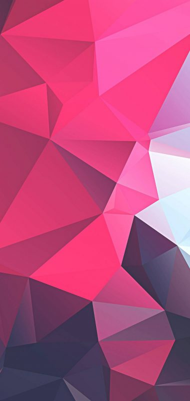 3D Pink Polygon Wallpaper 1440x3040 380x802