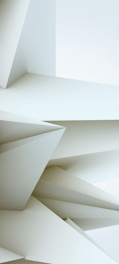 3D White Blocks 1080x2400 380x844