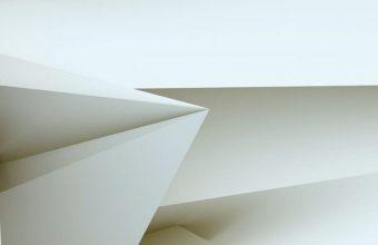 3D White Blocks Wallpaper 1440x3040 340x220