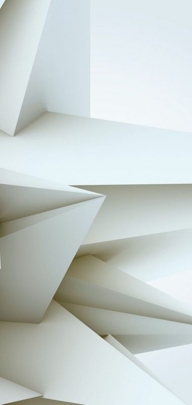 3D White Blocks Wallpaper 1440x3040 380x802