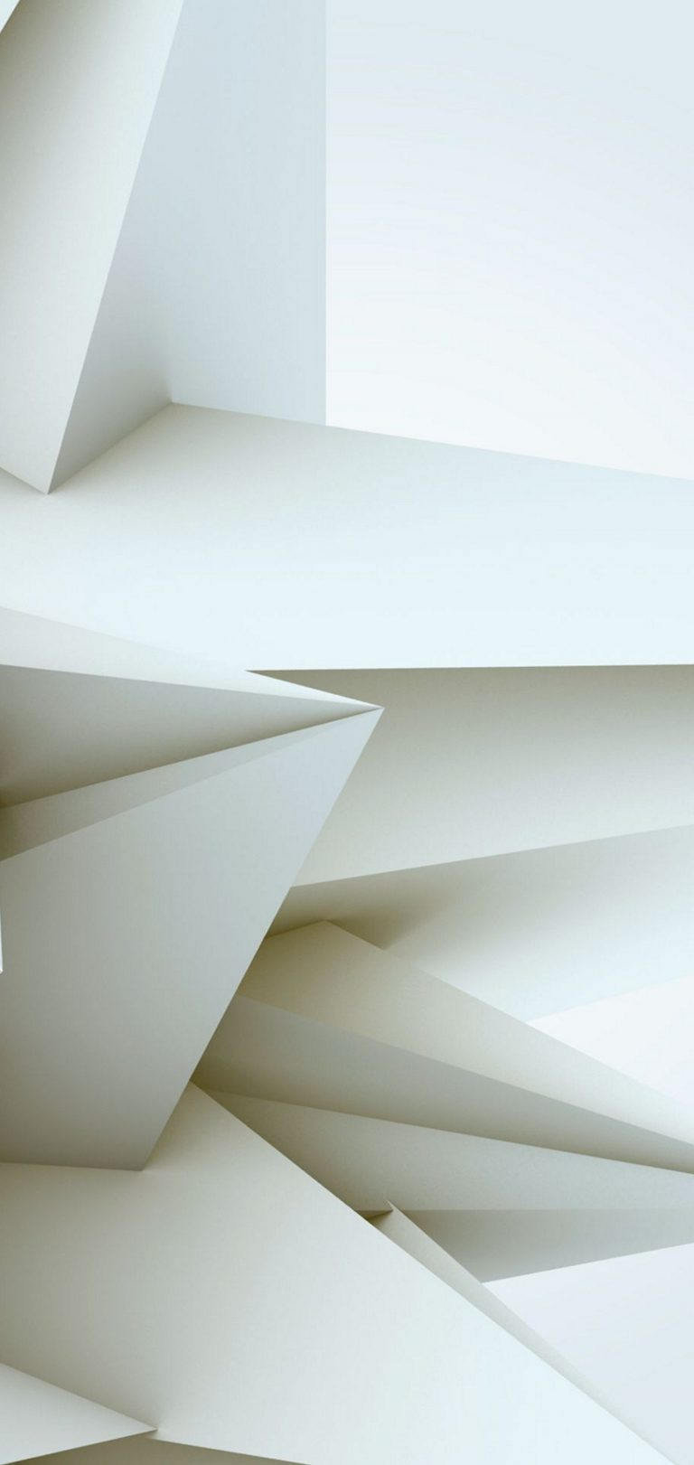 3D White Blocks Wallpaper 1440x3040 768x1621