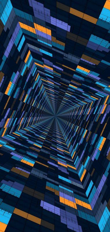 Abstract 3D Blocks Wallpaper 1440x3040 380x802