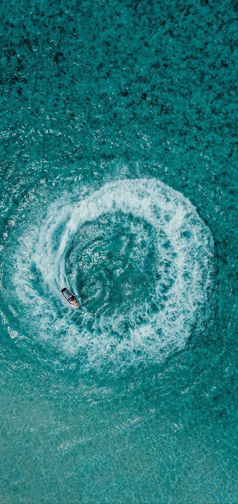Aerial View Ocean Wallpaper 1440x3040 768x1621