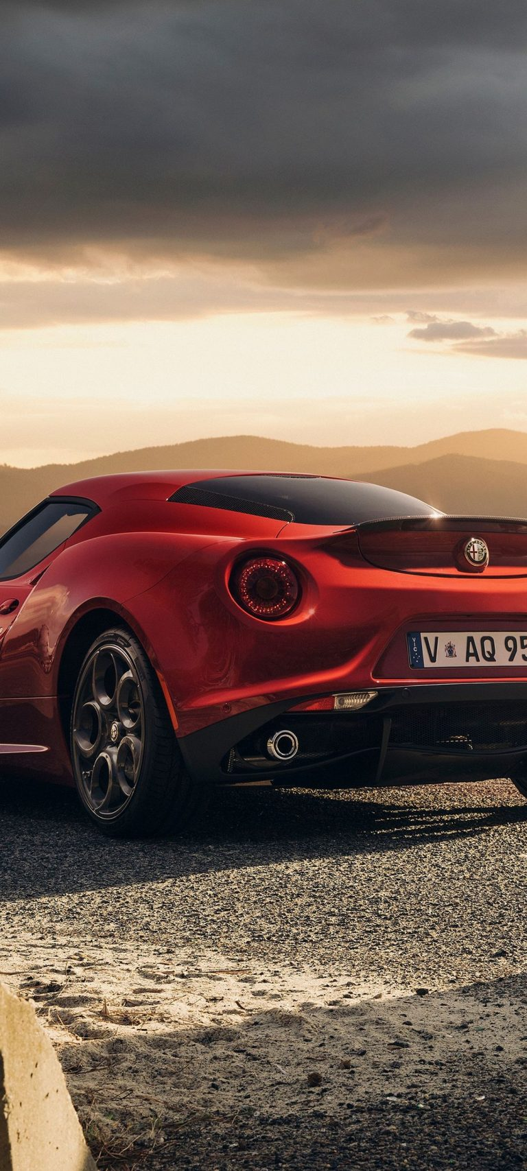 Alfa Romeo 4c Launch Edition Red 1080x2400 768x1707