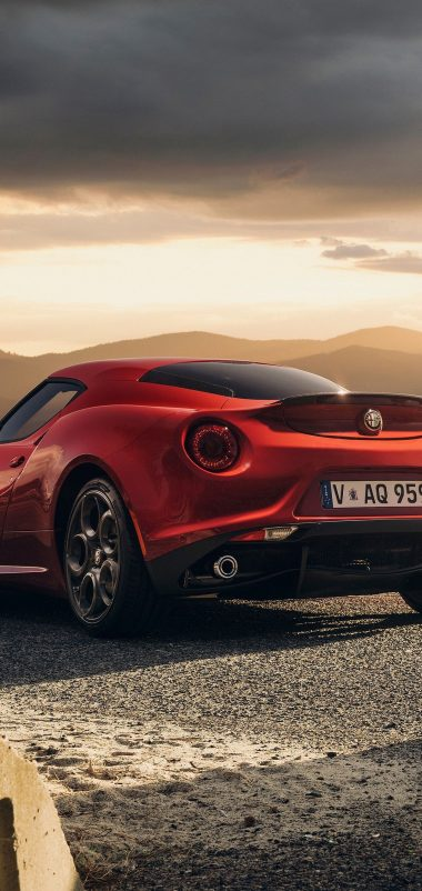 Alfa Romeo 4c Launch Edition Red Wallpaper 1440x3040 380x802