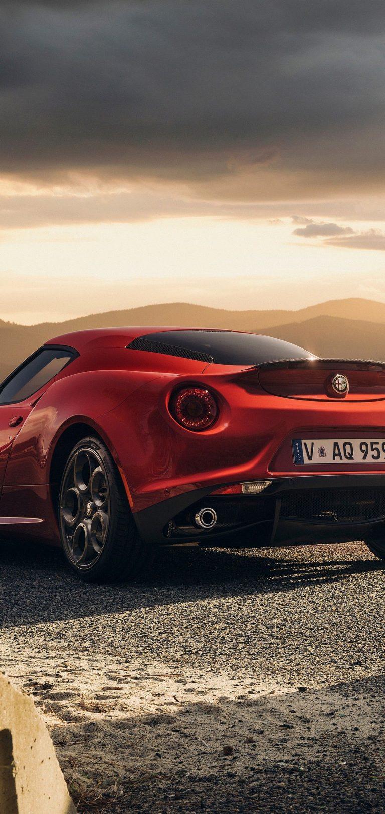Alfa Romeo 4c Launch Edition Red Wallpaper 1440x3040 768x1621
