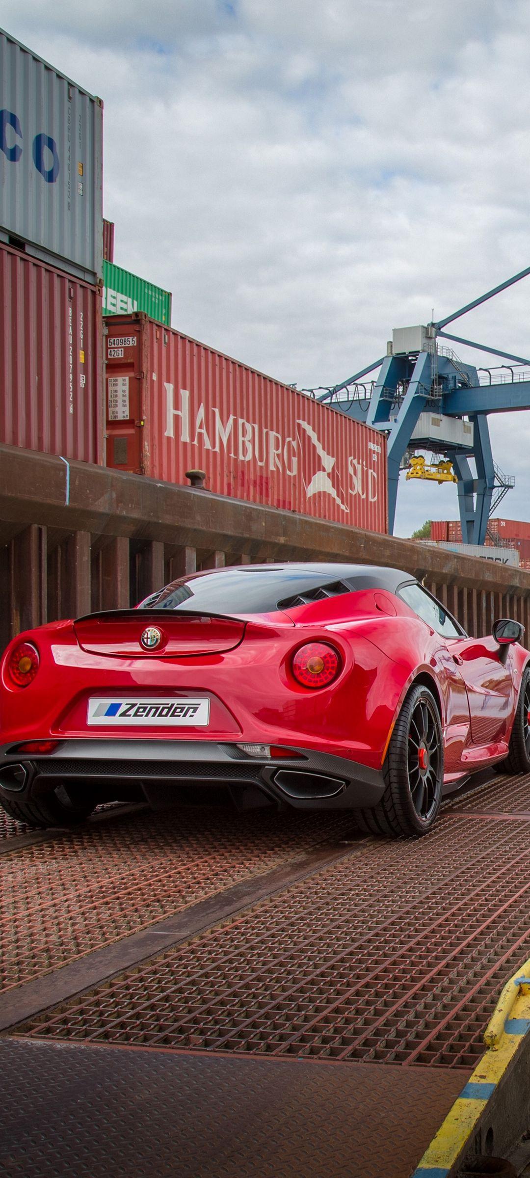 Alfa Romeo 4c Zender Red Rear View