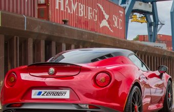 Alfa Romeo 4c Zender Red Rear View Wallpaper 1440x3040 340x220